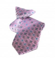 Gumis gyereknyakkendő -  (mini) Lila mintás Gyerek nyakkendők