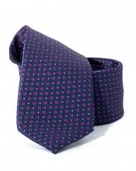 Goldenland slim nyakkendő - Kék-piros mintás