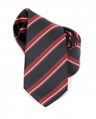 Goldenland slim nyakkendő - Fekete-piros csíkos Csíkos nyakkendők