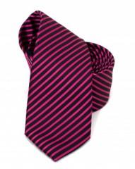 Goldenland slim nyakkendő - Pink csíkos