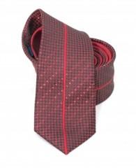Goldenland slim nyakkendő - Piros mintás