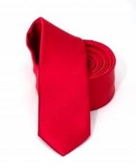 Goldenland slim nyakkendő - Piros szatén Egyszínű nyakkendők