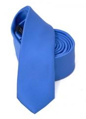 Goldenland slim nyakkendő - Tengerkék szatén Egyszínű nyakkendők