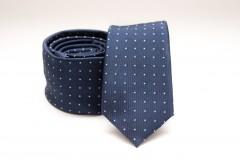Prémium slim nyakkendő - Kék pöttyös