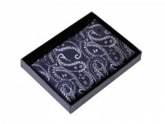 Paisley díszzsebkendő dobozban - Sötétkék Zsebkendők