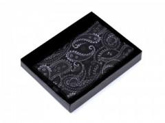 Paisley díszzsebkendő dobozban - Fekete Zsebkendők