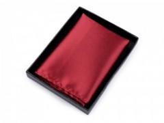 Szatén díszzsebkendő dobozban - Piros