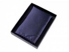 Szatén díszzsebkendő dobozban - Sötétkék