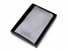 Szatén díszzsebkendő dobozban - Ezüst