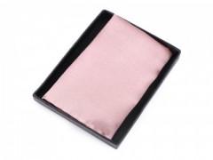 Szatén díszzsebkendő dobozban - Rózsaszín