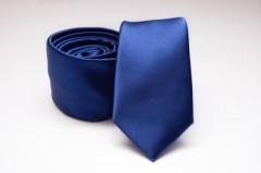 Prémium slim nyakkendő - Királykék szatén