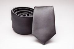 Prémium slim nyakkendő - Grafit szatén