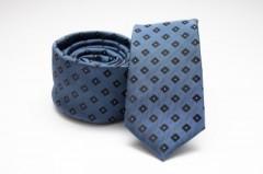 Prémium slim nyakkendő - Sötétkék kockás