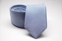 Prémium selyem nyakkendő - Kék mintás