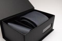 Díszdobozos nyakkendő szett - Acélszürke