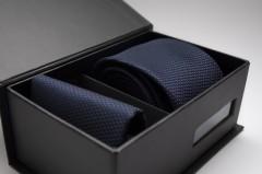 Díszdobozos nyakkendő szett - Sötétkék