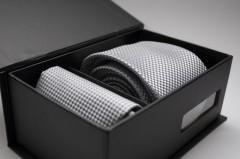 Díszdobozos nyakkendő szett - Ezüst