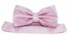 Goldenland csokornyakkendő szett - Rószaszín mintás Csokornyakkendők