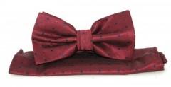 Goldenland csokornyakkendő szett - Meggybordó pöttyös Csokornyakkendők