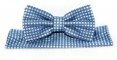 Goldenland csokornyakkendő szett - Kék mintás Csokornyakkendők