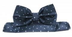 Goldenland csokornyakkendő szett - Sötétkék mintás Csokornyakkendők