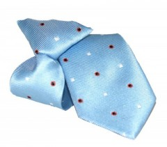 Gumis gyereknyakkendő (mini)  - Világoskék mintás Gyerek nyakkendők