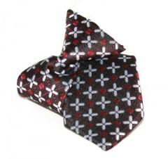 Gumis gyereknyakkendő (mini)  - Bordó mintás Gyerek nyakkendők