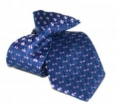 Gumis gyereknyakkendő (mini)  - Kék mintás Gyerek nyakkendők