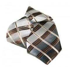 Gumis gyereknyakkendő (mini)  - Drapp-barna kockás Gyerek nyakkendők