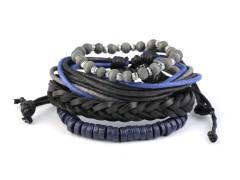 Férfi karkötő készlet - Kék