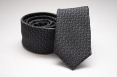 Prémium slim nyakkendő - Sötétszürke mintás