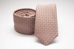 Prémium slim nyakkendő - Púder mintás