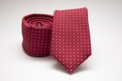 Prémium slim nyakkendő - Piros pöttyös