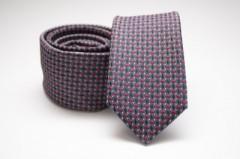 Prémium slim nyakkendő - Kék-piros pöttyös
