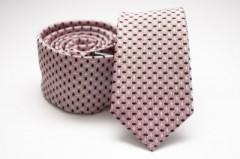 Prémium slim nyakkendő - Púder-fekete pöttyös