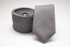 Prémium slim nyakkendő - Grafit pöttyös