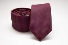 Prémium slim nyakkendő - Sötétkék-piros pöttyös