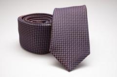Prémium slim nyakkendő - Sötétkék-bordó pöttyös