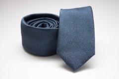 Prémium slim nyakkendő - Acélkék
