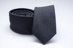Prémium slim nyakkendő - Kékesfekete