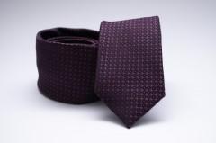 Prémium slim nyakkendő - Padlizsán-fekete