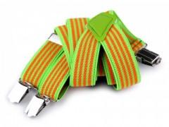Gyerek nadrágtartó - Narancs-zöld csíkos Gyermek nadrágtartók