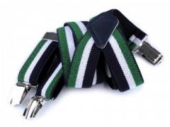 Gyerek nadrágtartó - Kék-zöld csíkos Gyermek nadrágtartók