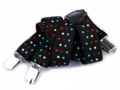 Gyerek nadrágtartó - Fekete pöttyös Gyermek nadrágtartók