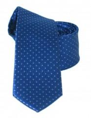 Goldenland slim nyakkendő - Kék pöttyös