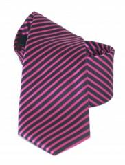 Goldenland slim nyakkendő - Lila-fekete csíkos