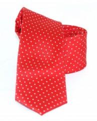 Goldenland slim nyakkendő - Piros pöttyös