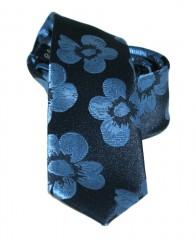 Goldenland slim nyakkendő - Kék virágos