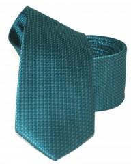 Goldenland slim nyakkendő - Türkizzöld mintás