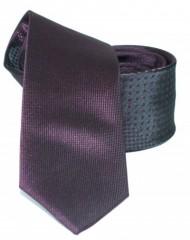 Goldenland slim nyakkendő - Sötétlila mintás Mintás nyakkendők